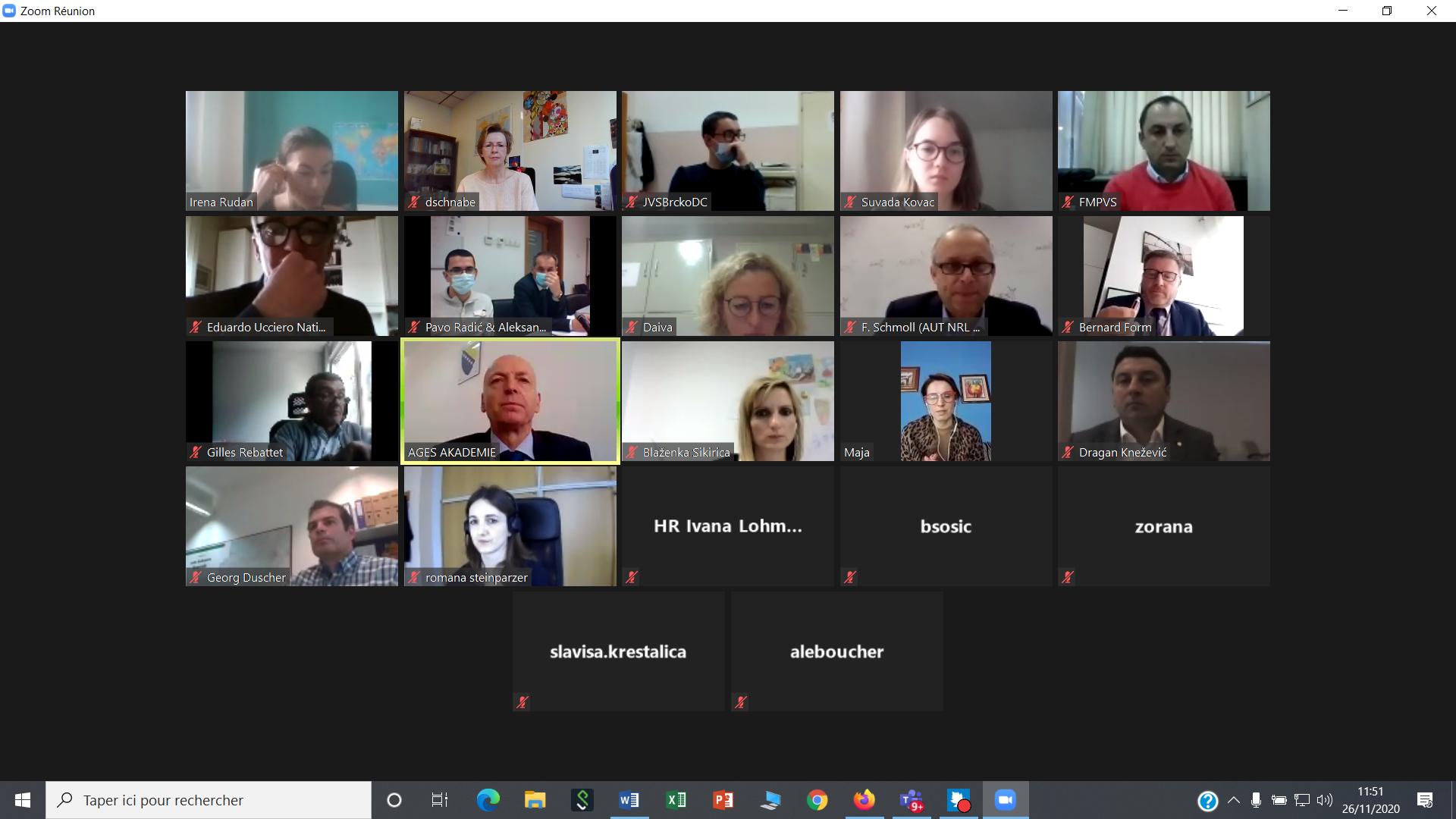 Jumelage santé animale en Bosnie-Herzégovine : première réunion du comité de pilotage
